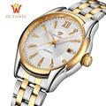 OUYAWEI Automatic Skeleton Watch Men's Wrist Watch Sport Full Steel Mechanical Watch Montre Homme Men Wristwatches