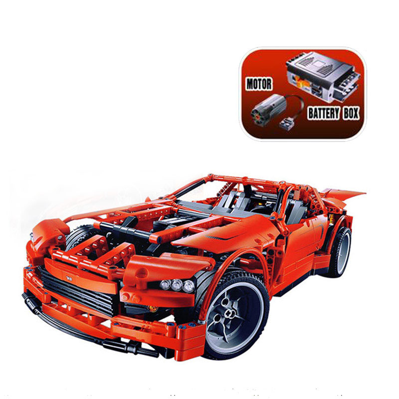 Technic Series Super Car Assembly Toy Car Model 1281Pcs Building Block Bricks Kids Toys For Gift 8070 in stock lepin 20028 1281pcs technic series super car assembly toy car model diy brick building block toy gift for boy gift 8070