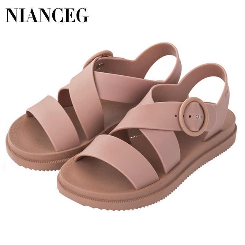 Женские босоножки из мягкого ПВХ на платформе, летняя обувь в римском стиле, женские пляжные сандалии с открытым носком, узкие сандалии-гладиаторы, женские повседневные сандалии