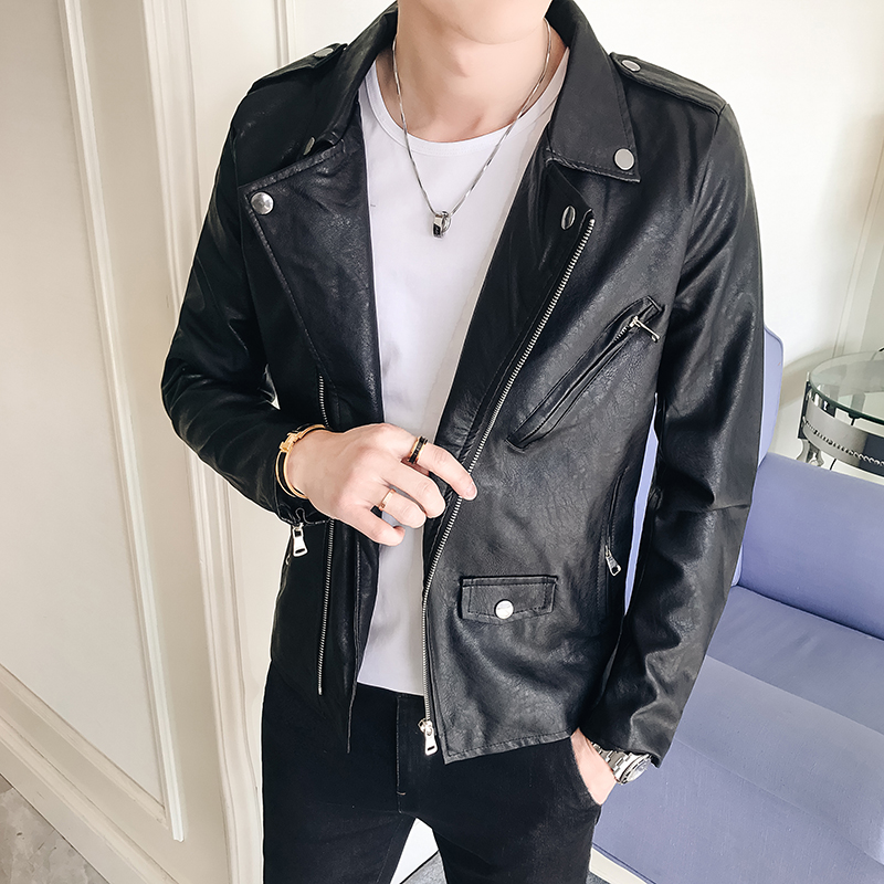 Best Selling New Spring and Autumn Men's PU Leather Jacket Men's Leather Fitness Fashion Men's Jacket Casual Jacket Men's S-5XL