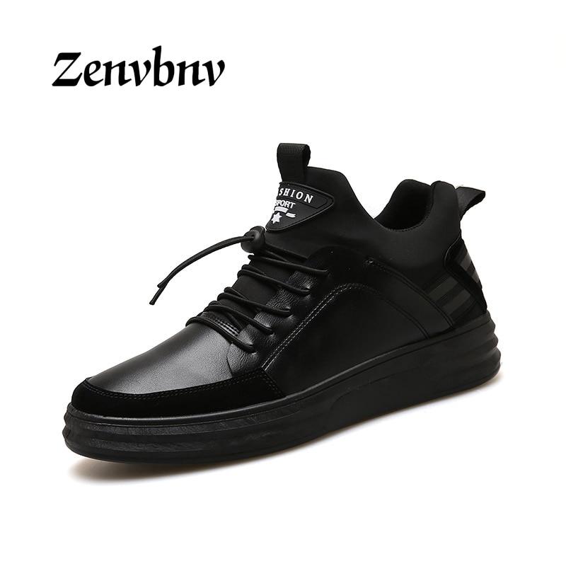 Zenvbnv зима Для мужчин повседневная обувь осень Для мужчин S Дышащая обувь на плоской подошве Лоферы Мода 2017 г. Footear Мужская обувь на плоской по…