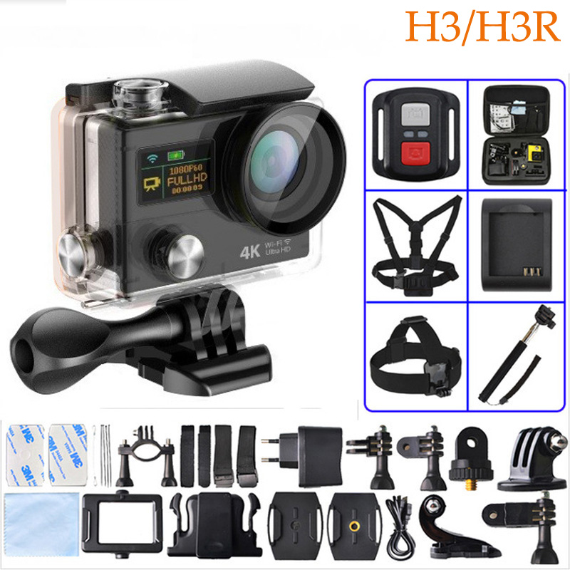 ФОТО H3R H3 Action Video Camera Wide Angle Sport Camera Dual Screen Wi-fi+2.4G Controller 1080p 60fps Gopro Hero4 action Camera