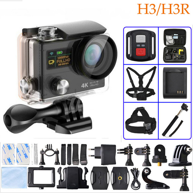 H3R H3 Action Video Camera Wide Angle Sport Camera Dual Screen Wi-fi+2.4G Controller 1080p 60fps Gopro Hero4 action Camera
