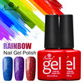 Saviland Rainbow Neon Glitter Nail Gel Polish Soak Off UV Gel Nail Art for Shimmer Colors Long-lasting Gel Vernis