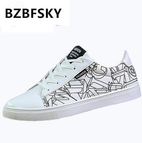 BZBFSKY Free shipping 2018 new men's vulcanized shoes in autumn, rubber bottom flat low top lace up shoes size 39 44