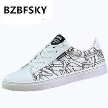 BZBFSKY Free shipping 2018 new men's vulcanized shoes in autumn, rubber bottom flat low-top lace-up shoes size 39-44
