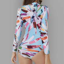 New arrival Sexy Front zipper One Piece Swimsuit Women High quality Push up Long sleeve Swimwear female Surfing swimming suit