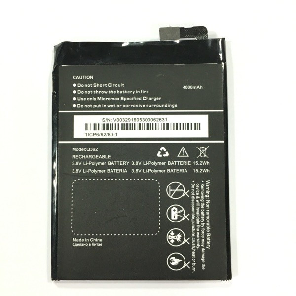 100% original 4000mAh mobile phone batteries fit for Micromax Q392 battery free shipping