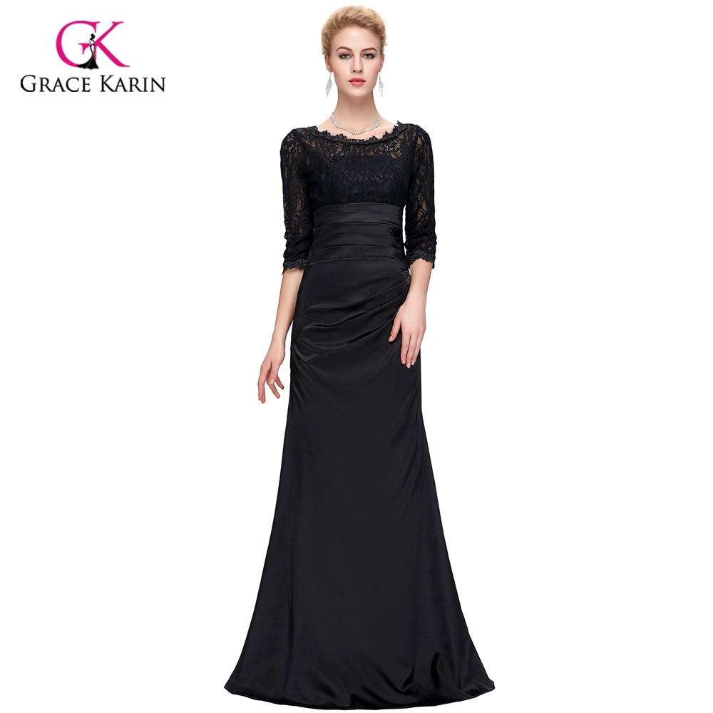 Black Long Sleeve Evening Dresses for Women