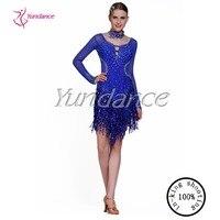 New Brand Blue Salsa Latin Girls Figure Skating Dress 2016 L 13104