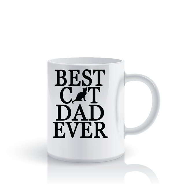 cat dad mugs Tea Cup porcelain coffee mug