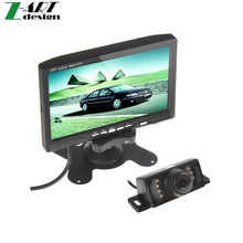7 Inch TFT LCD Color Display Screen Car Rear View DVD VCR Monitor+7IR LED Lights Night Vision Rearview Reverse Reversing Camera