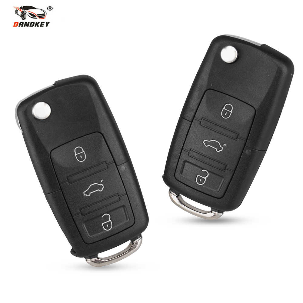 Dandkey 2 3 2+1 3+1 Buttons For VW Golf 4 5 Passat B5 B6 Polo Touran For Seat For Skoda Fob Remote Folding Flip Key Shell