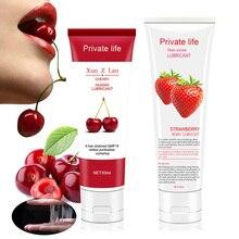Huile lubrifiante, saveur de Fruit, pour sexe Anal et Oral, huile de lubrification de Massage livraison directe