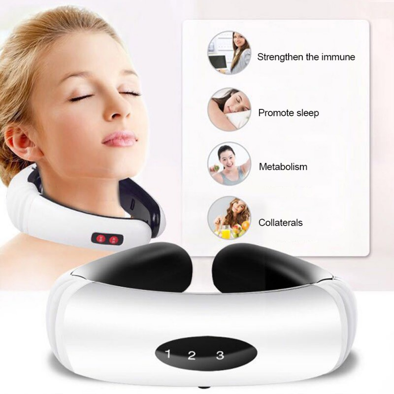 Multifunction Neck Physiotherapy Massager Cervical Massager Electromagnetic Shock Pulse Cervical Physical Therapy Instrument