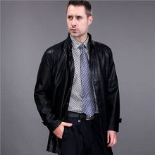 2016 FreeShipping Hot Sale Winter Thick Leather Garment Casual flocking Leather Jacket Men's Clothing Leather Jacket Men EA118