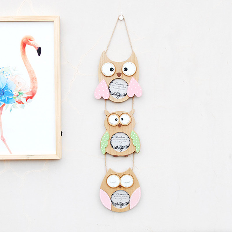 Cheap Frames From The Craft Store And Imagination: Idyllic Retro Owl 3 Inch Photo Frame Creativity Wooden