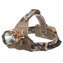 LED Rechargeable Camouflage Head Lamp, Outdoor Lighting USB Charging Headlight for Camping Fishing