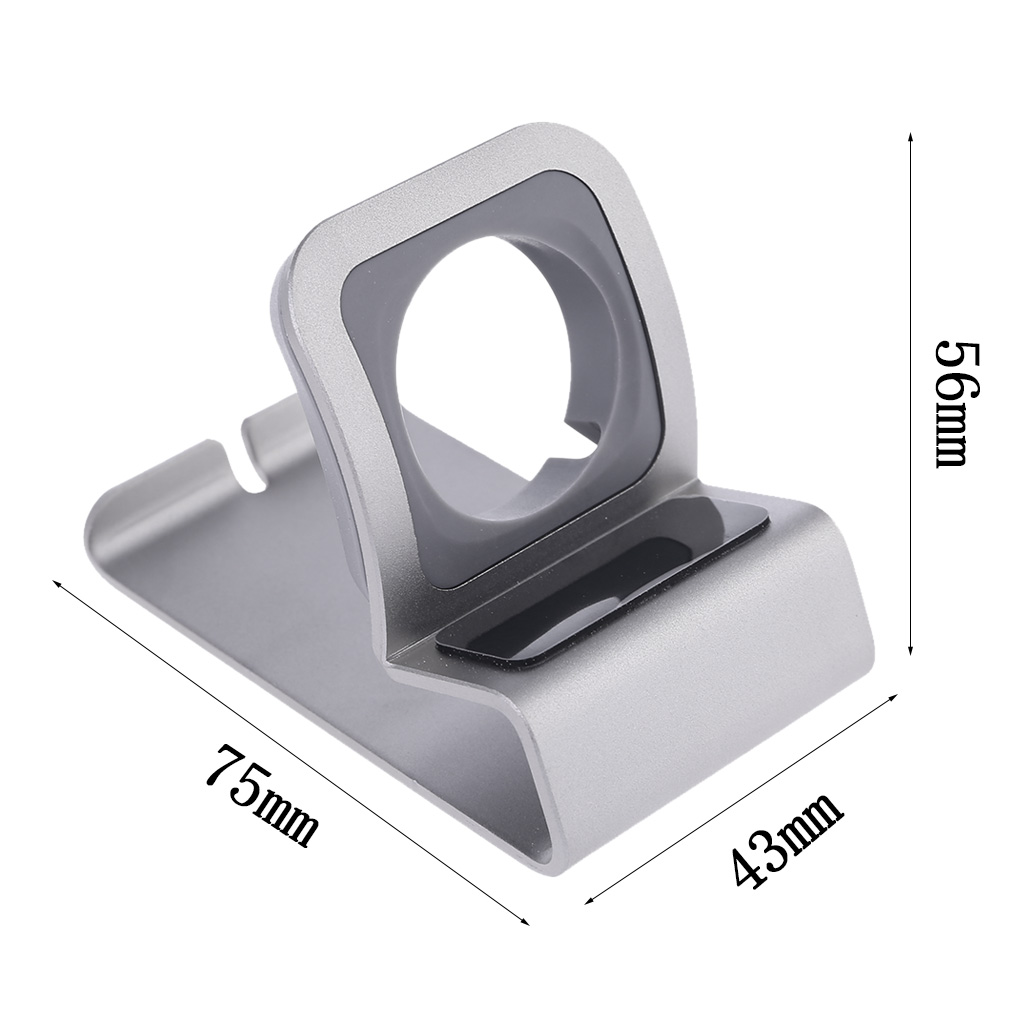 2019 New Aluminum Charge Station Dock Mount Stand Holder for Apple Watch Series 1 2 3 4 42mm 38mm 40mm 44mm Charger Cable in Phone Holders Stands from Cellphones Telecommunications
