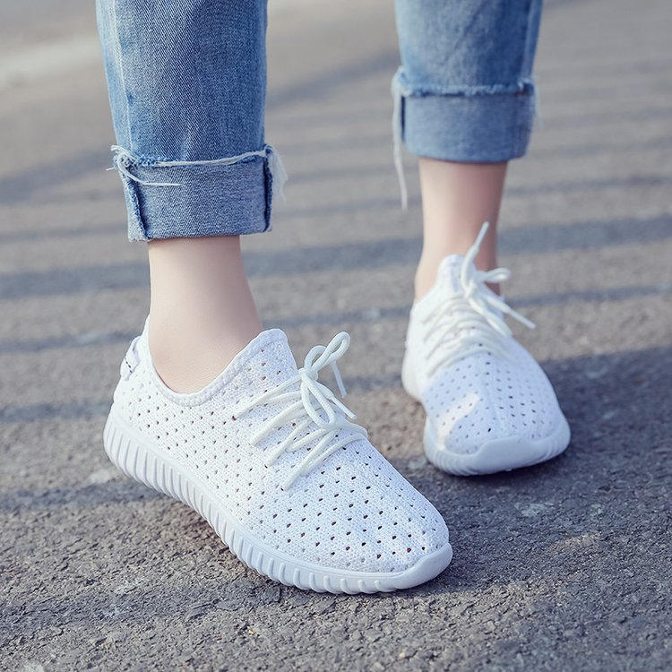 LAKESHI Women Casual Shoes lace-up women shoes Summer Outdoor flats Shoes Breathable mesh Women Shoes pink sneaker pinsen fashion women shoes summer breathable lace up casual shoes big size 35 42 light comfort light weight air mesh women flats