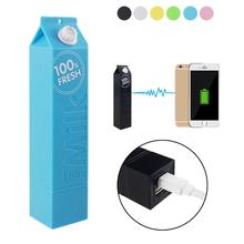 Universal power bank milk design 2600mAh backup power protable charger&powerbank Compatible with mobile phones USB charged
