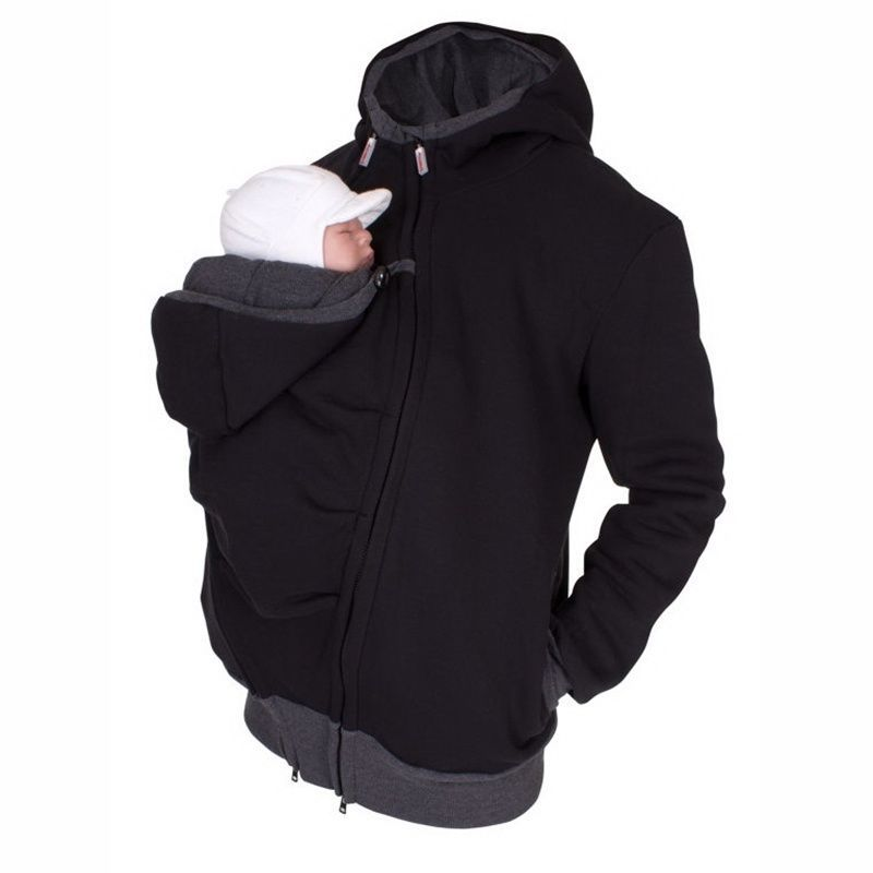 6319cddb3 Dad Winter Kangaroo Cotton Baby Carrier jackets Maternity clothes ...