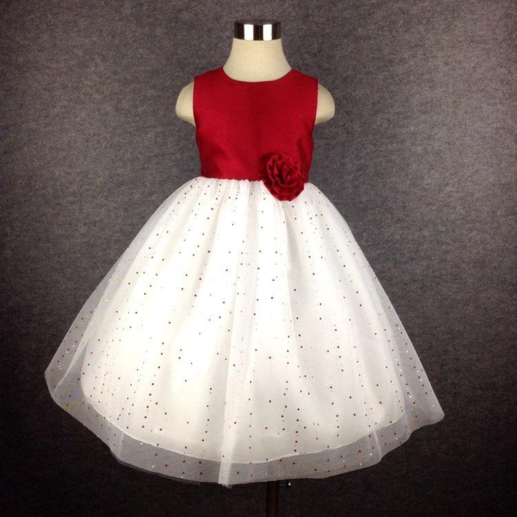 NºRojo caliente vestido de partido Rosa arco Keen-longitud niños ...
