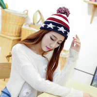 New Casual Autumn Winter Women Caps Beanies Five Pointed Star Pattern Beanie Hats Men And Women