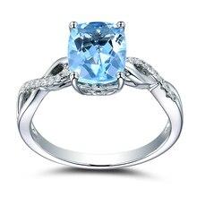 925 Sterling Silver Sapphire Diamond Close Rings for Women Topaz Colored Gemstone Jewelry jewelry Anillos De Diamante Bizuterias