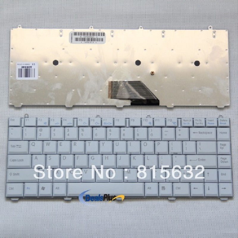 New Laptop keyboards For Sony Vaio FS VGN-FS Series US KEYBOARD WHITE 147915321 new laptop us keyboard for sony vgn sz series us layout black 148023361 147964792