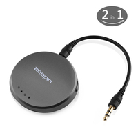 ZEEPIN T11 2 in 1 Car Bluetooth Car Kit Transmitter Receiver for 3.5mm Audio Device One Key Shift