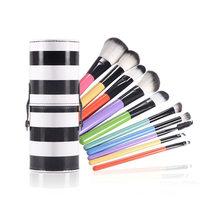 KESMALL 10Pcs Lot Brand Designer Makeup Brush Set High Quality Blush Eyeshadow Brushes Fashion Face Make
