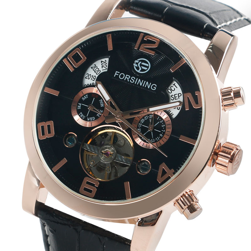 FORSINING Business Men Self-Wind Mechanical Wristwatch Genuine Leather Watches Roman Numbers Skeleton Modern Reloj Hombre Gift siketu 2017 free shipping spring and autumn high heels shoes fashion women shoes wedding shoes thick sandalsl pumps g042
