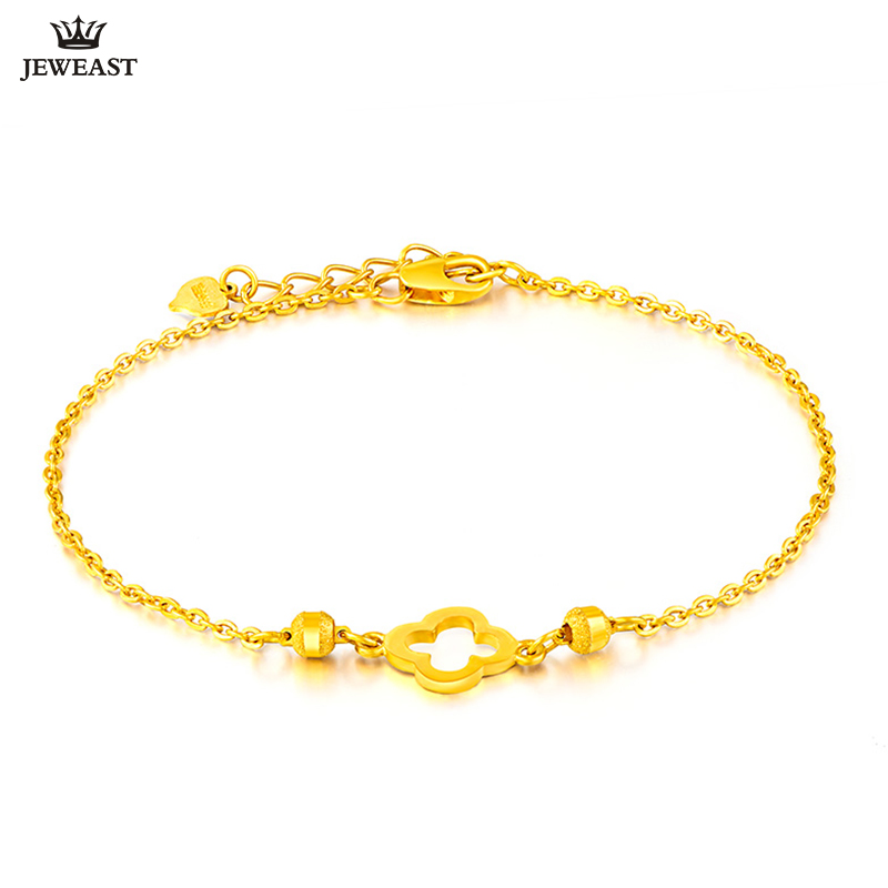 24K Pure Gold Bracelet Real 999 Solid Gold Bangle Fashion Beautiful Flowers Trendy Classic Party Fine Jewelry Hot Sell New 2018 24k gold ring pure real pattern exquisite fine jewelry mini resizable design fashion female new hot sale 999 trendy party women
