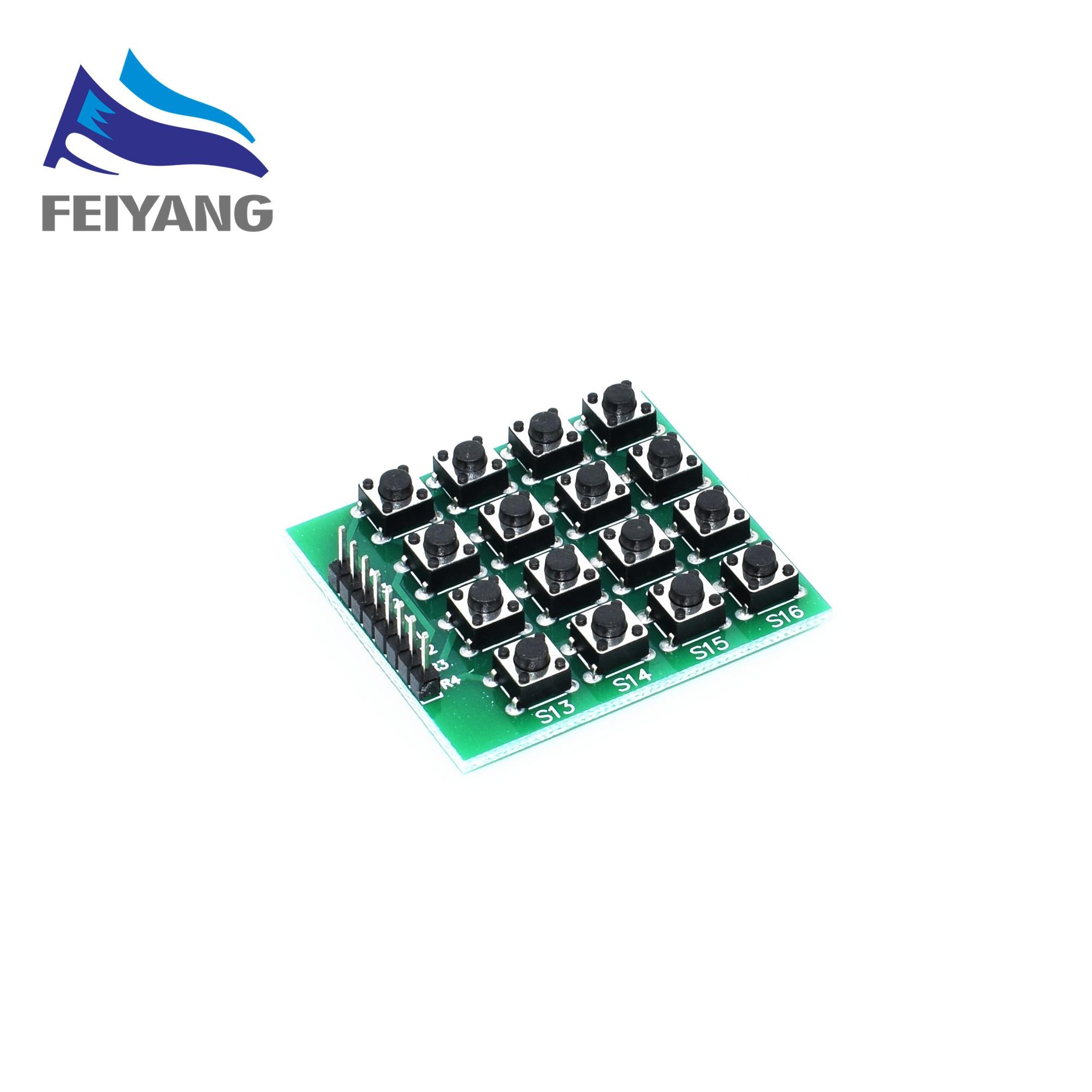 1PCS 4x4 Matrix 16 Keypad Keyboard Module 16 Button Mcu