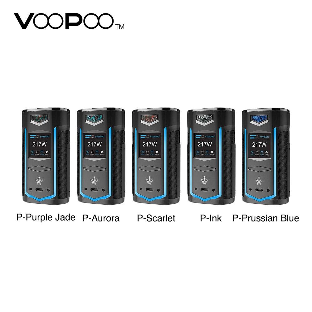 Nouveau VOOPOO X217 boîte Mod 217 W Vape Mod US gène puce puissance par 18650 20700 21700 batterie VOOPOO Vape Mod Vs glisser 2/Shogun/Luxe Mod
