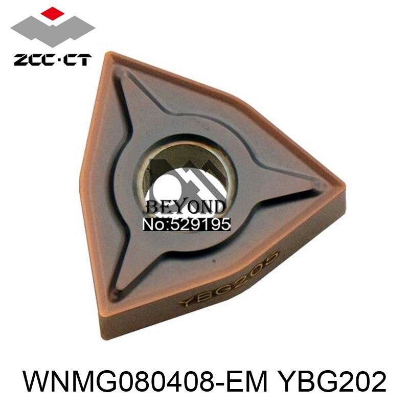 WNMG080408 EM YBG202 Zcc Cutting Blade milling Insert Zhuzhou Diamond Original Products The Price Ratio Is