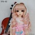 Oueneifs personalização 1/6 ante boneca de roupas de bebê menina saia longa saia rosa borda do laço bowknot hand-made não peruca ou boneca
