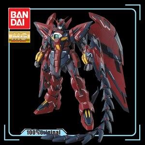 Image 1 - BANDAI MG 1/100 nowy mobilny raport Gundam skrzydło OZ 13MS Gundam epion EW figurka zabawka do montażu dla dzieci prezent