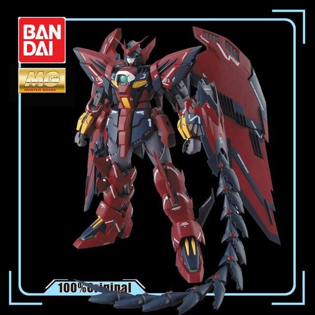 BANDAI MG 1/100 nowy mobilny raport Gundam skrzydło OZ 13MS Gundam epion EW figurka zabawka do montażu dla dzieci prezent