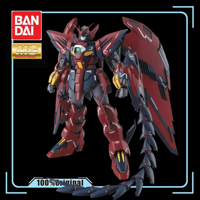 BANDAI figura de acción ensamblada de Gundam Wing para niños, juguete ensamblado de OZ 13MS, Gundam Epyon EW, 1/100