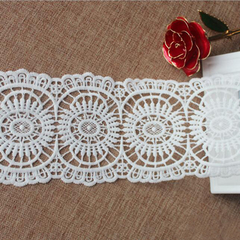 60y High Quality White Milk Silk Embroidered Lace Trim Applique For Sewing Clothing Curtain Fabric Embroidery Wedding Dress Lace