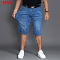 Summer Thin Section Large Size Denim Shorts Male Summer Half Size Loose Large Size Men S
