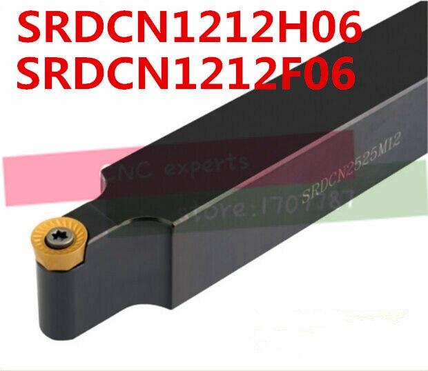 10PCS RCMT0602 and 1PCS SRDCN1212H06 Metal Lathe Cutting Tools Lathe Machine CNC Turning Tools External Turning