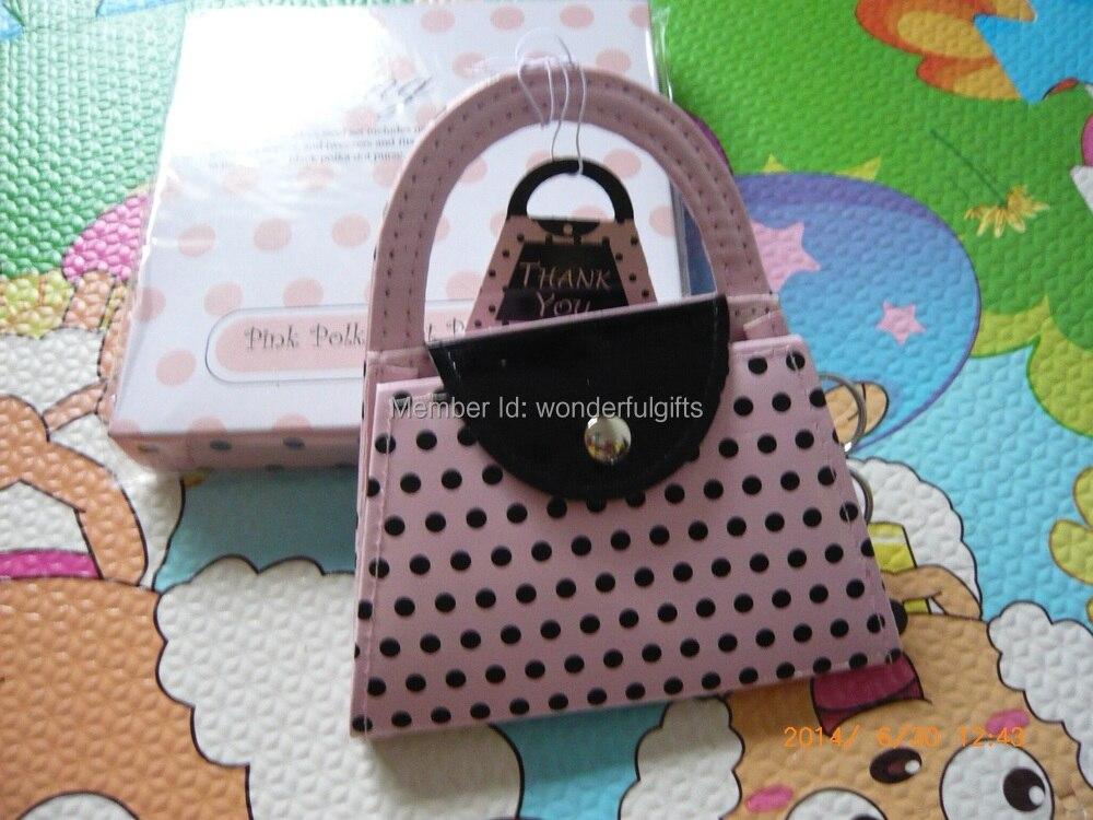 결혼식 호의 Bachelorette 파티 선물 핑크 지갑 매니큐어 세트 100boxes / lot