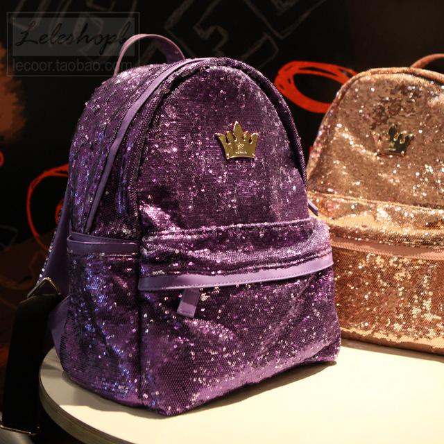 b4bb78b386 New Shiny Bag 2014 Girls Backpack Fashion Decoration Paillette Backpacks  School Bags Women Shoulders Bags Candy