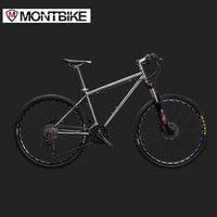 LAUXJACK Mountain Bike Titanium Frame 30 Speeds Shimano M610 Hydraulic Brakes 26 27 5 Wheels