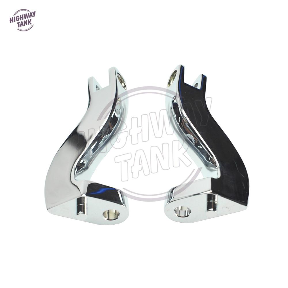 Chrome Motorcycle Passenger Foot peg Mount Kit Moto Rear Foot Rest Bracket case for Harley Road King Glide Electra 1993-2016