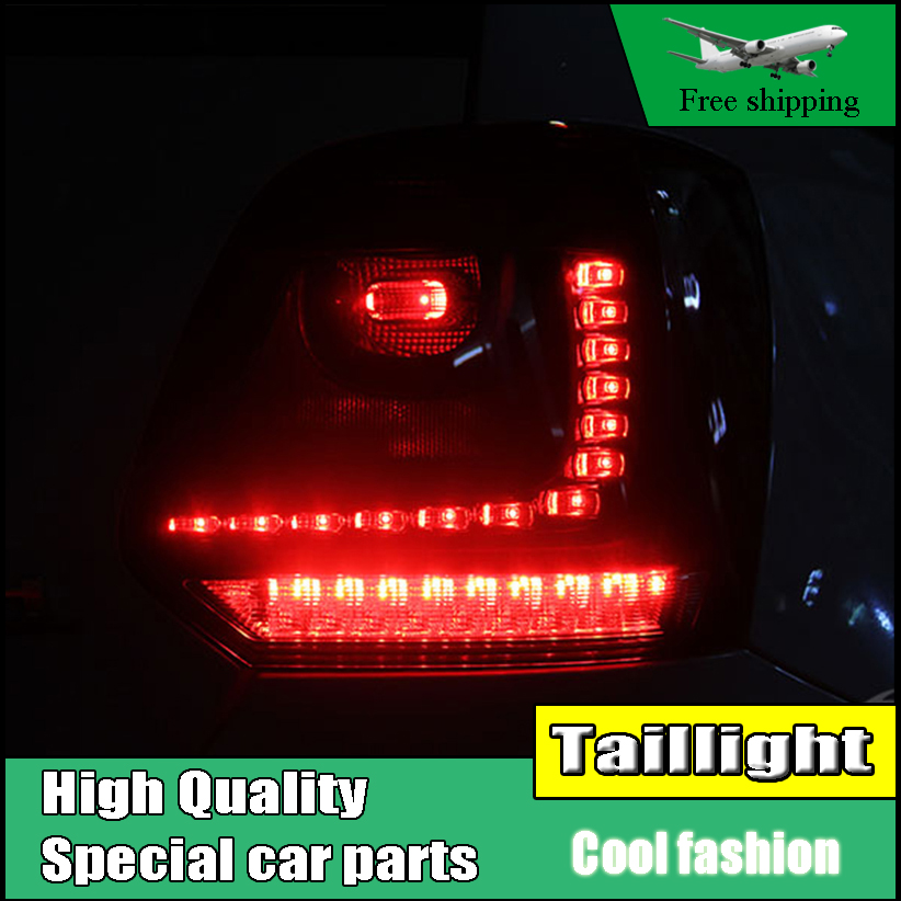 Car Styling Case For Volkswagen VW Polo MK5 2011-2015 Taillights LED Tail Light LED Rear Lamp DRL+Brake+Reversing+Signal Light for vw volkswagen polo mk5 6r hatchback 2010 2015 car rear lights covers led drl turn signals brake reverse tail decoration