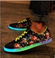 Светящиеся Обувь с загорается Светодиодный Светящиеся Обувь Новые Моделирования Sole Обувь для Взрослых Корзины Привело ALS709